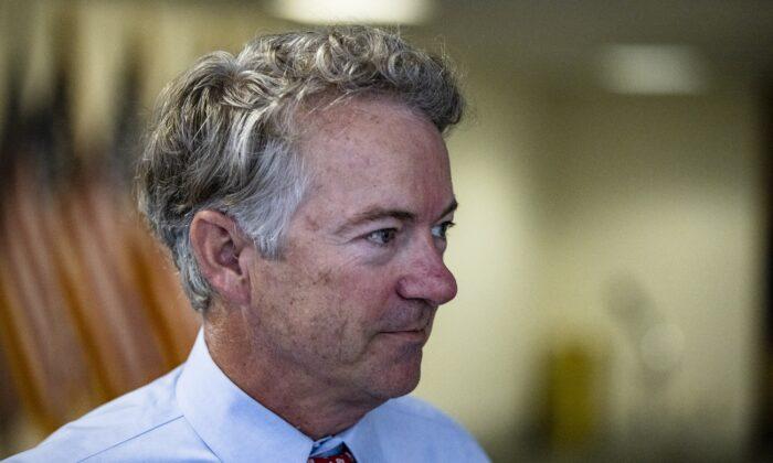 Sen. Rand Paul (R-Ky.) in Washington on Oct. 26, 2020. (Samuel Corum/Getty Images)