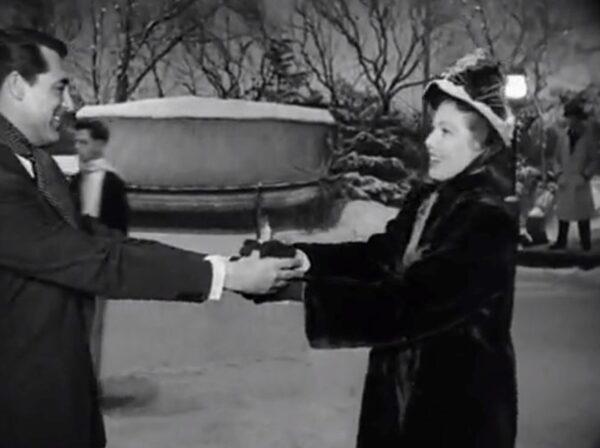 a couple ice skating circa 1948