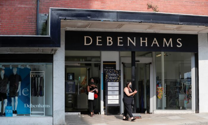 A Debenhams store is pictured, following the outbreak of the coronavirus disease (COVID-19) in Harrogate, Britain, on Aug. 11, 2020. (Lee Smith/Reuters)