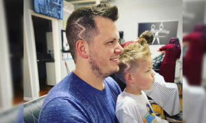 5-Year-Old Ashamed of Scars From Skull Surgery–So Dad Gets 'Lightning Bolt' Haircut to Match