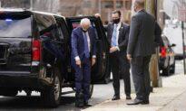 Joe Biden Appears in Walking Boot After Breaking Foot
