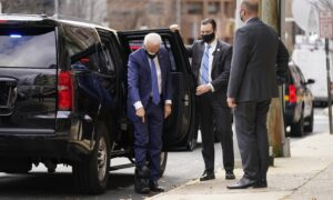 Joe Biden Appears in Walking Boot After Breaking Foot