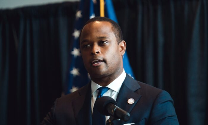 Kentucky Attorney General Daniel Cameron speaks during a press conference in Frankfort, Ky., on Sept. 23, 2020. (Jon Cherry/Getty Images)