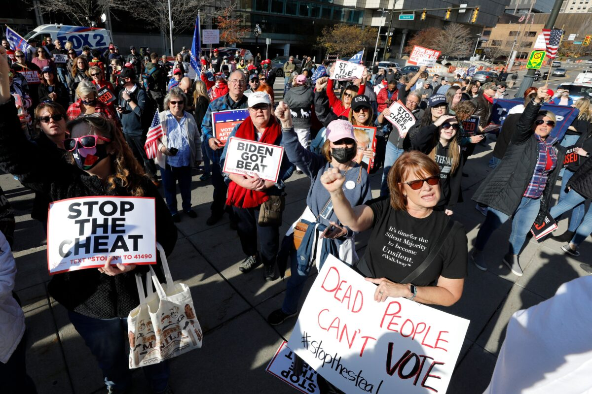 Supporters for President Donald Trump