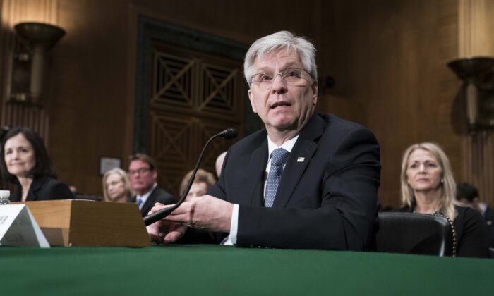 Christopher Waller testifies before the Senate Banking, Housing and Urban Affairs Committee during a hearing on their nomination to be member-designate on the Federal Reserve Board of Governors in Washington on Feb. 13, 2020. (Sarah Silbiger/Getty Images)