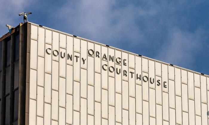 The Orange County Courthouse in Santa Ana, Calif., on Oct. 22, 2020. (John Fredricks/The Epoch Times)