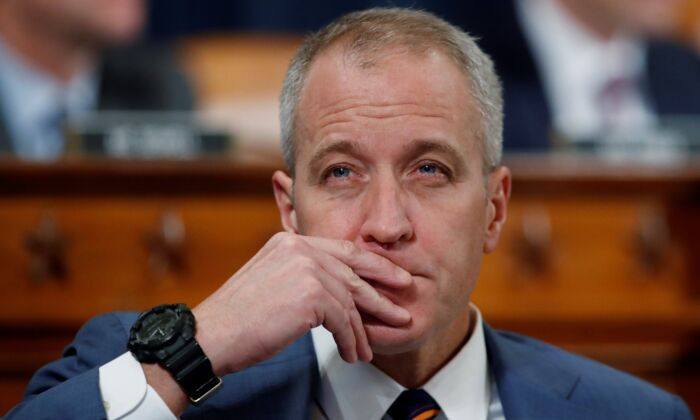 Rep. Sean Patrick Maloney (D-N.Y.) listens during a House Intelligence Committee on Capitol Hill in Washington on Nov. 13, 2019. (Alex Brandon/AP Photo)
