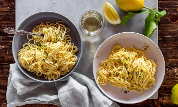 This pasta is as bright as a sunny winter morning, thanks to the juice and zest of a whole lemon. (Giulia Scarpaleggia)