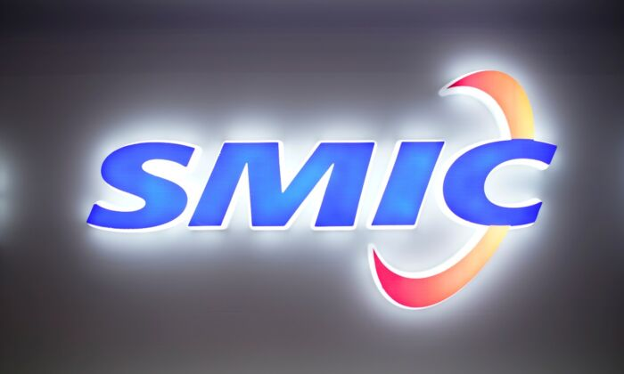 A logo of Semiconductor Manufacturing International Corporation (SMIC) is seen at China International Semiconductor Expo (IC China 2020) in a file photo. (Aly Song/Reuters)