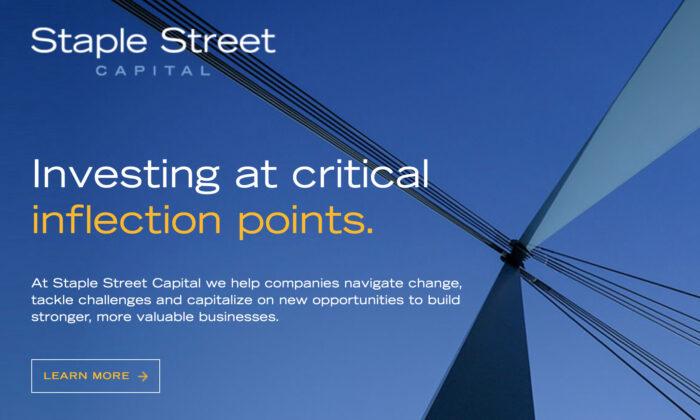 Staple Street Capital website (Screenshot/The Epoch Times)