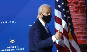 Biden Says He'd Start Presidency by Asking Americans to Wear Masks for 100 Days