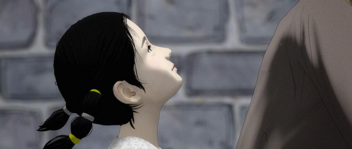 "little girl follows mother in ""Up We Soar"""