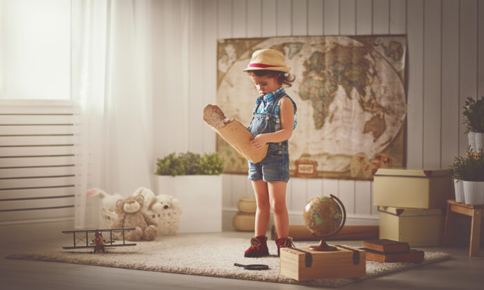 Rather than let video games or other passive entertainment beckon to your children, you can transform your home into a place for exploration by setting out crafts, books, maps, and toys that call for imagination. (Evgeny Atamanenko/Shutterstock)