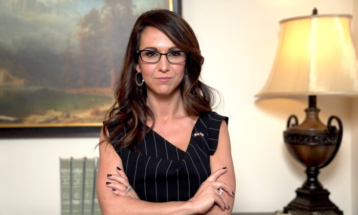 Then-Rep.-elect Lauren Boebert (R-Colo.) in Washington on Dec. 4, 2020. (Tal Atzmon/The Epoch Times)