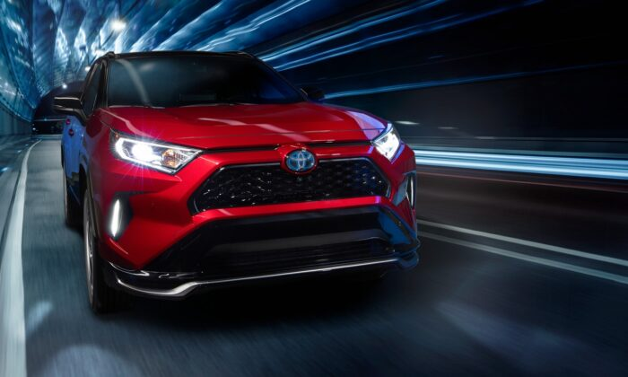 2021 Toyota RAV4 Prime XSE in Supersonic Red. (Courtesy of Toyota)