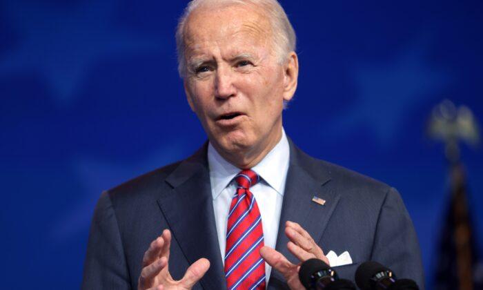 Democratic presidential candidate Joe Biden speaks in Wilmington, Del., on, Dec. 4, 2020. (Alex Wong/Getty Images)