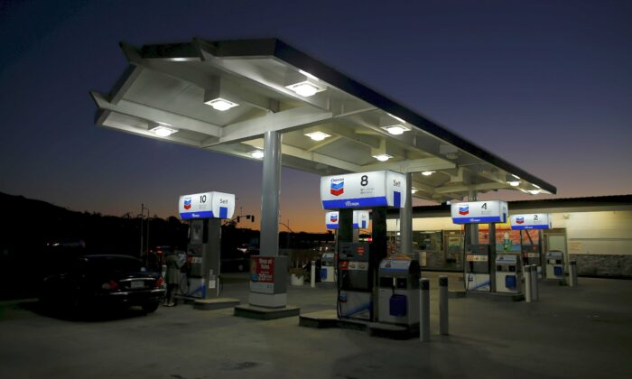 A Chevron gas station in Cardiff, Calif., on Jan. 25, 2016. (Mike Blake/Reuters)