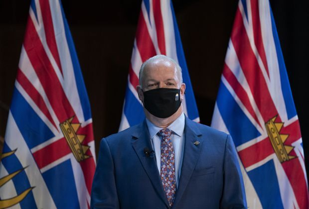 B.C. Premier John Horgan in Victoria, British Columbia, on Nov. 26, 2020. (The Canadian Press/Jonathan Hayward)