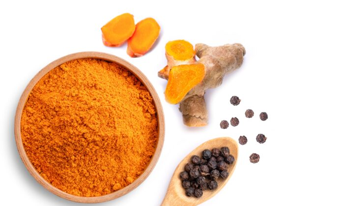 Turmeric, ginger, and black pepper have compounds shown to work as well as common anti-inflammatory medication. (NIKCOA/Shutterstock)