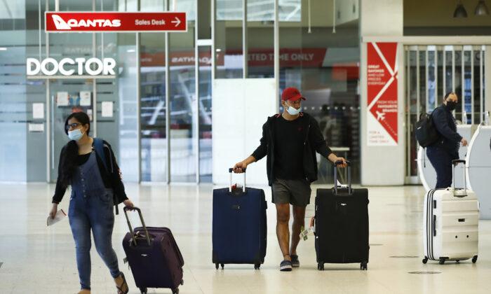 Melbourne Airport in Melbourne, Australia on Nov. 23, 2020. (Daniel Pockett/Getty Images)