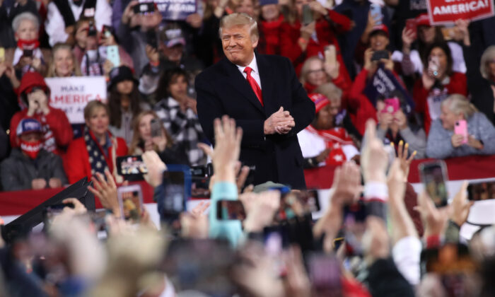 President Donald Trump attends a rally to support Republican Georgia Sens. David Perdue and Kelly Loeffler in Valdosta, Ga., on Dec. 5, 2020. (Spencer Platt/Getty Images)