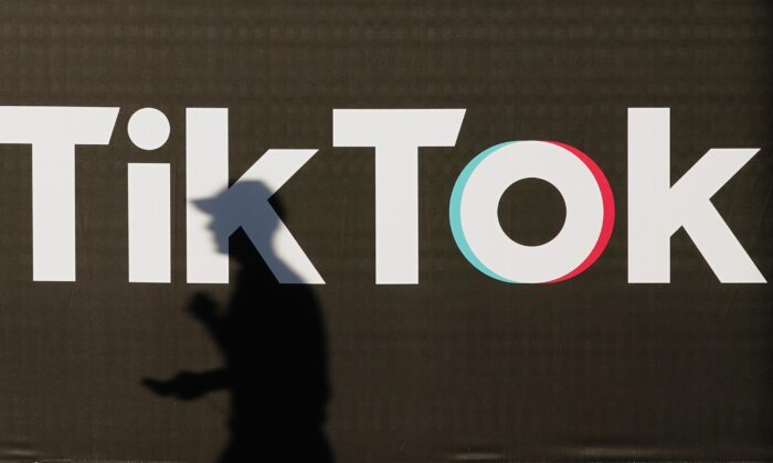 An advertisement for social media company TikTok in Berlin on Sept. 21, 2020. (Sean Gallup/Getty Images)