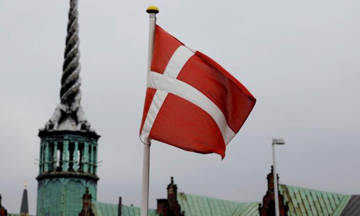 Denmark's national flag flutters in Copenhagen, Denmark, on Oct. 22, 2019. (Andreas Mortensen/Reuters)
