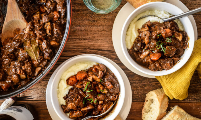 Rich, earthy, and indulgent, beef bourguignon is simply everything you want in a bowl of winter comfort food. (Audrey Le Goff)