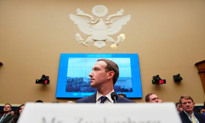 Facebook CEO Mark Zuckerberg testifies before a House Energy and Commerce hearing on Capitol Hill in Washington, about the use of Facebook data to target American voters in the 2016 election and data privacy on Apr. 11, 2018. (Andrew Harnik/ AP Photo, File)