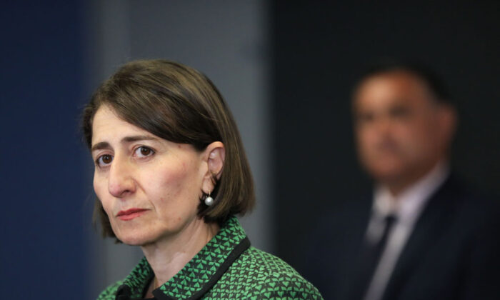 Premier Gladys Berejiklian during a COVID-19 update press conference in Sydney, Australia on Nov. 25, 2020. (Damian Shaw-Pool/Getty Images)