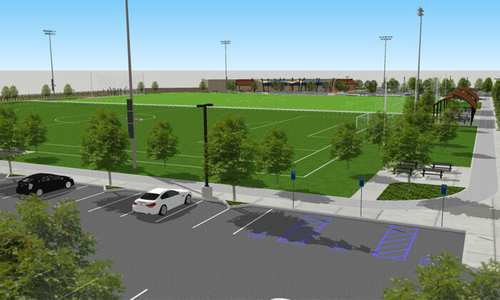 A rendering of a new $13 million sports park under construction in Cypress, Calif. (Courtesy of the City of Cypress)