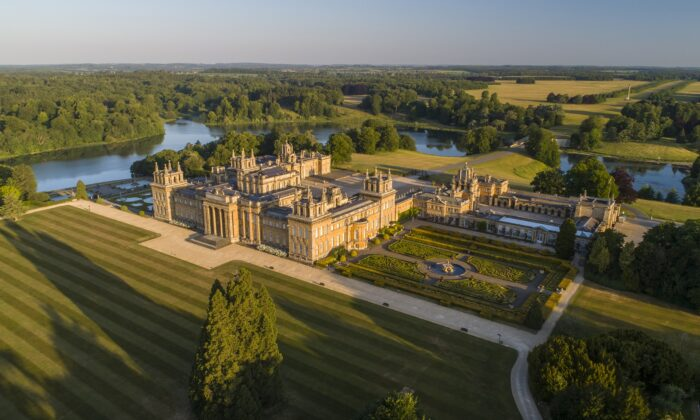An aerial view of Blenheim Palace at Woodstock, in Oxfordshire, England. (Blenheim Palace)