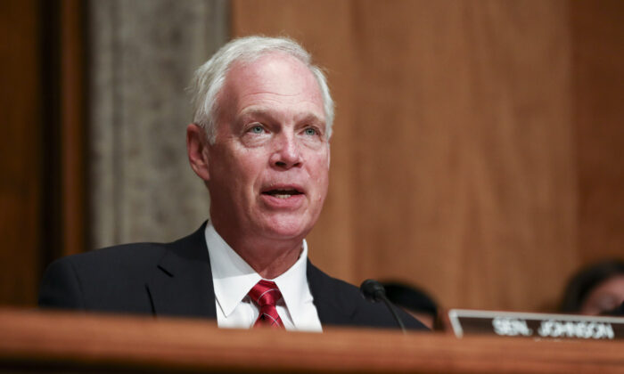 Sen. Ron Johnson (R-Wis.) during a Senate Homeland Security Committee in Washington on July 30, 2019. (Charlotte Cuthbertson/The Epoch Times)