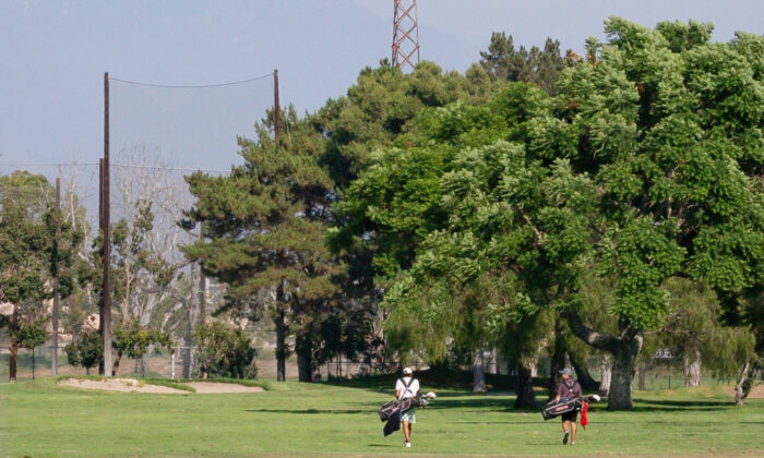 A view of Willowick Golf Course, owned by the city of Garden Grove, though it is located in Santa Ana, Calif., on Aug. 24, 2020. (John Fredricks/The Epoch Times)