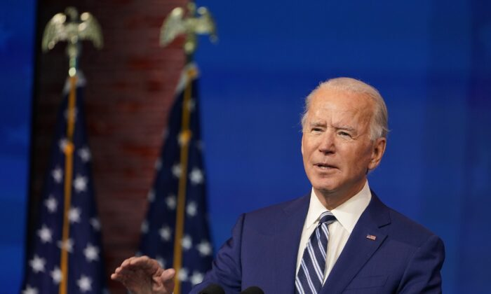 Joe Biden speaks during an event at The Queen theater in Wilmington, Del., on Dec. 9, 2020. (Susan Walsh/AP Photo)