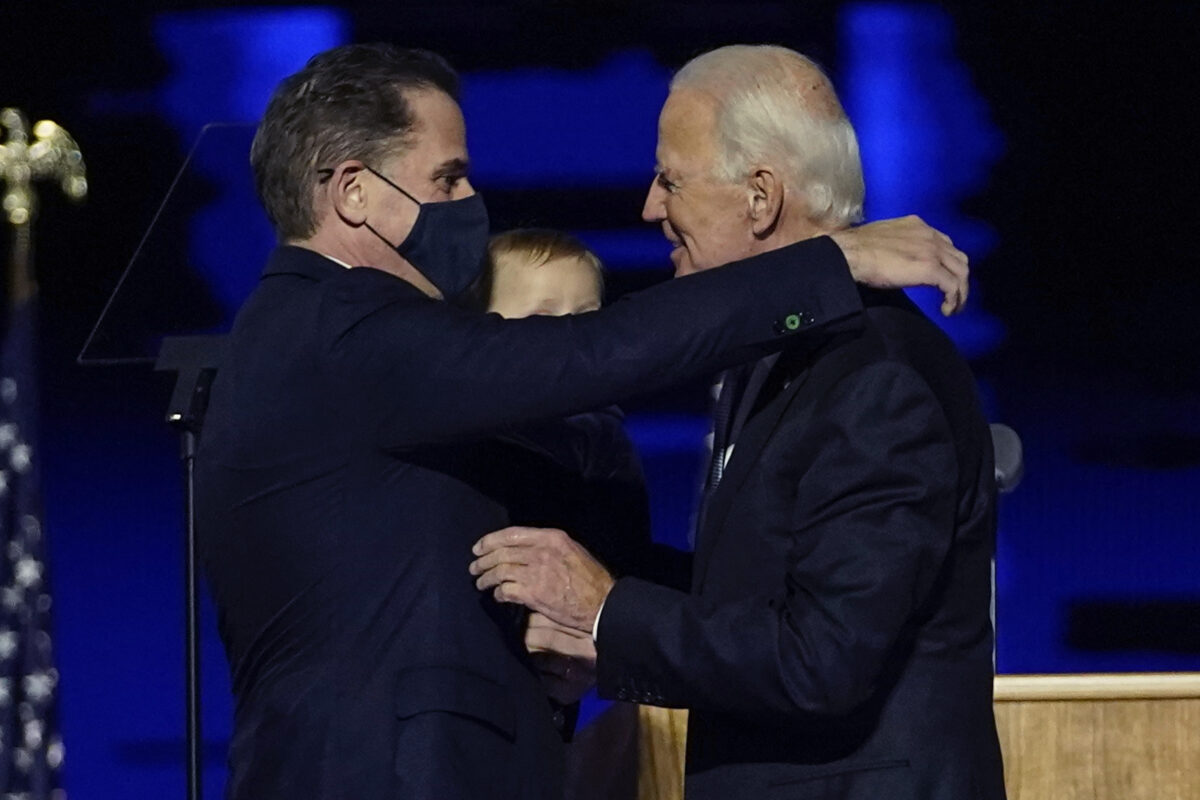 hunter-embraces-father-1200x800 Biden's AG Pick Says He Has Not Spoken to President About Hunter Biden Probe Politics [your]NEWS