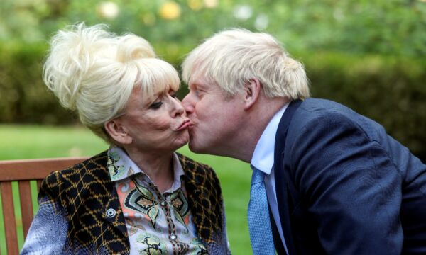 Boris Johnson kisses television actor Barbara Windsor