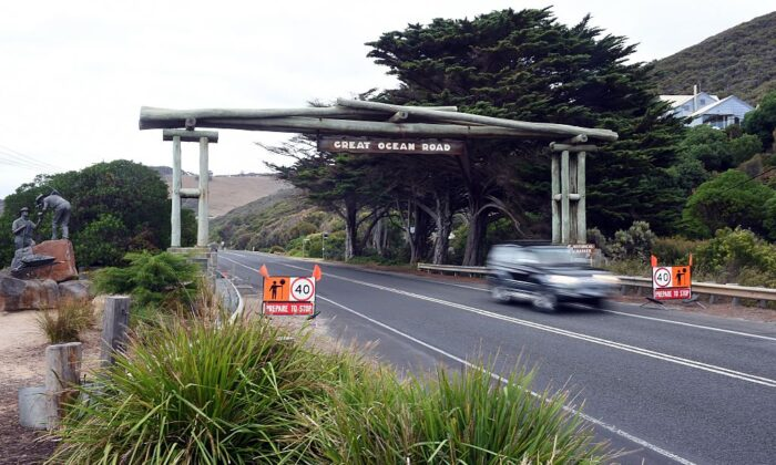 Memorial Arch of the Great Ocean Road in Victoria on March 24, 2015. (Indranil Mukherejee/AFP via Getty Images)