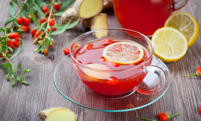 This solar term marks a peak of the cold yin energy of the year and a shift towards the growing warmth of yang energy.  Goji berry tea can help you deal with the chill.(Ingrid Balabanova/Shutterstock)
