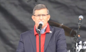 Flynn Speaks at Rally: 'We Cannot Accept What We Are Going Through as Right'