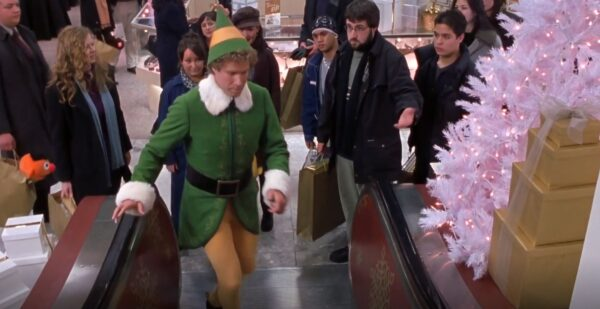 Elf on an escalator