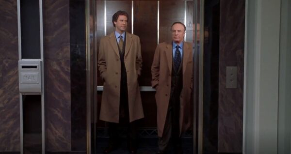 two guys in an elevator