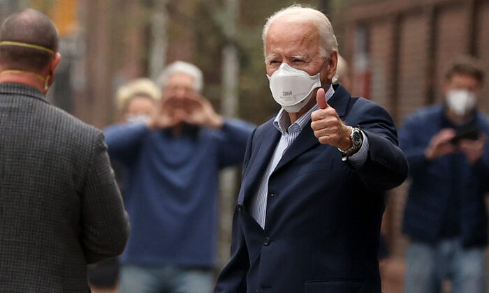 Presidential candidate Joe Biden in Philadelphia, on Dec. 12, 2020. (Chip Somodevilla/Getty Images)