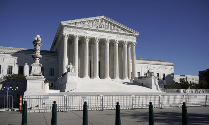 The Supreme Court in Washington, on Nov. 4, 2020. (AP Photo/J. Scott Applewhite)