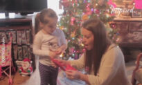 Little Girl Gets Christmas Surprise