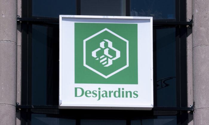 A Caisse populaire Desjardins sign is seen in Montreal, Canada, on June 18, 2019. (Paul Chiasson/The Canadian Press)
