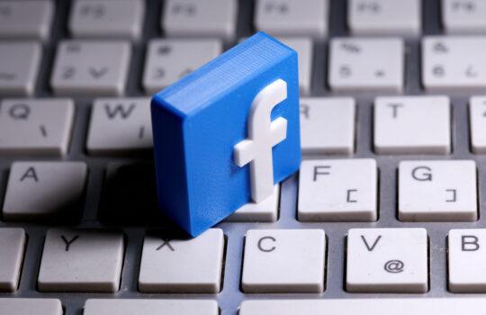 3D-printed Facebook logo