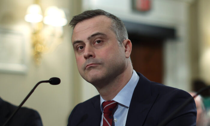 President and CEO of Dominion Voting Systems John Poulos testifies during a hearing before the House Administration Committee on Capitol Hill on Jan. 9, 2020. (Alex Wong/Getty Images)