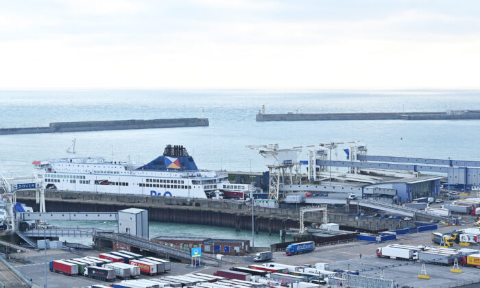 Port of Dover on the south coast of England on Dec. 10, 2020 (Justin Tallis/AFP via Getty Images)