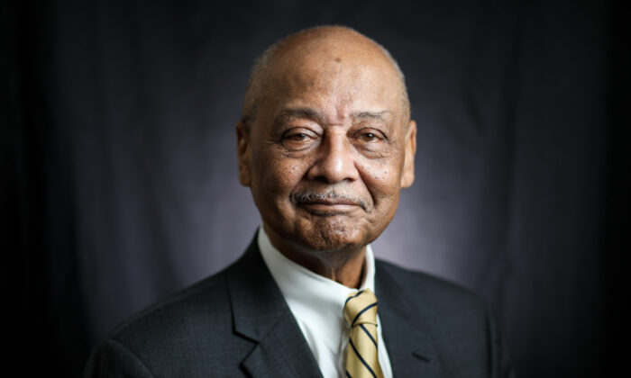 Bob Woodson is the president and founder of The Woodson Center. Founded in 1981, the center helps neighborhood leaders and community-based organizations address problems through innovative solutions. (Samira Bouaou/The Epoch Times)